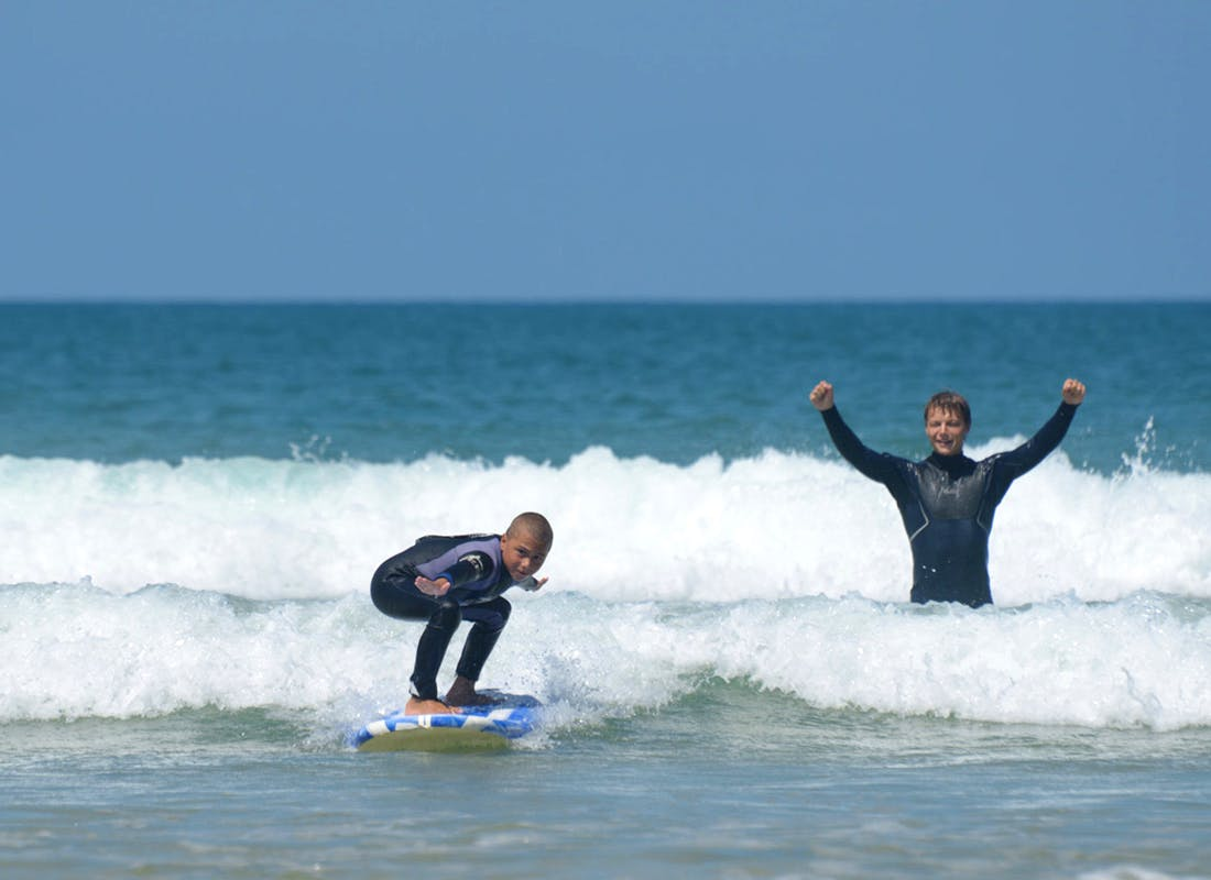 Surfing with Kids - Surfing Instructor
