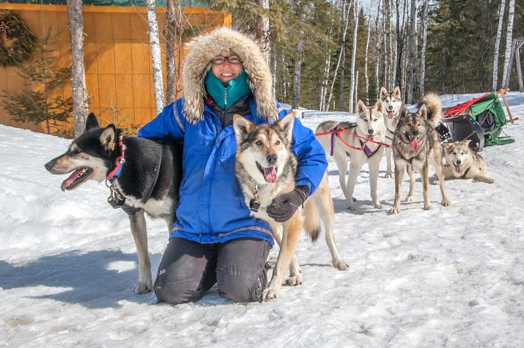 Huskies Caretaker And dogsled assistant